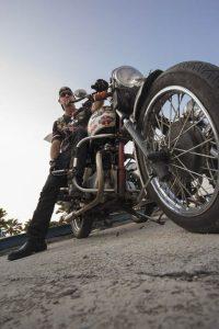 Motociclista clásico