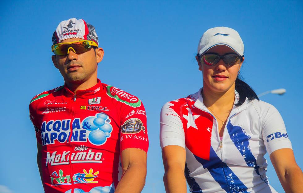 Arnold Alcolea y Yudelmis Domínguez: amor y ciclismo