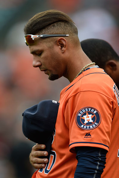 Yuliesky Gurriel con los Astros de Houston