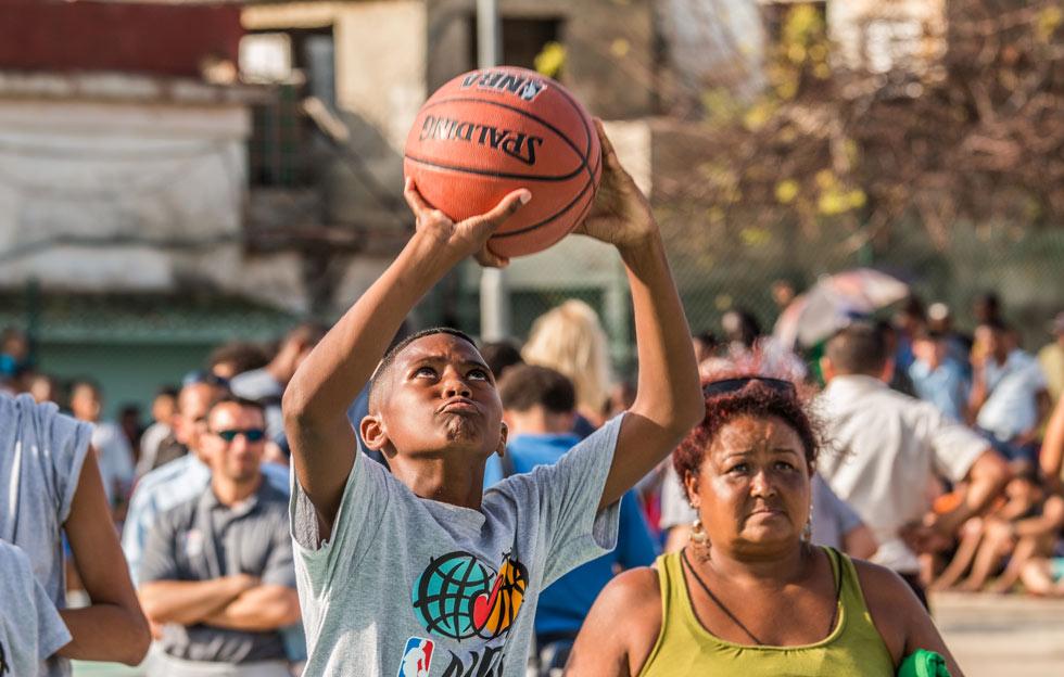 Liga callejera de Basquet organizado en La Habana