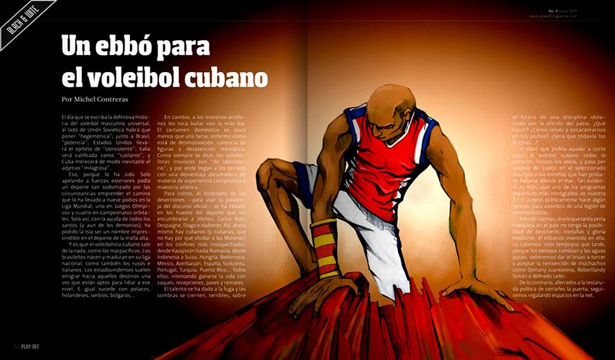 Un ebbó para el voleibol cubano