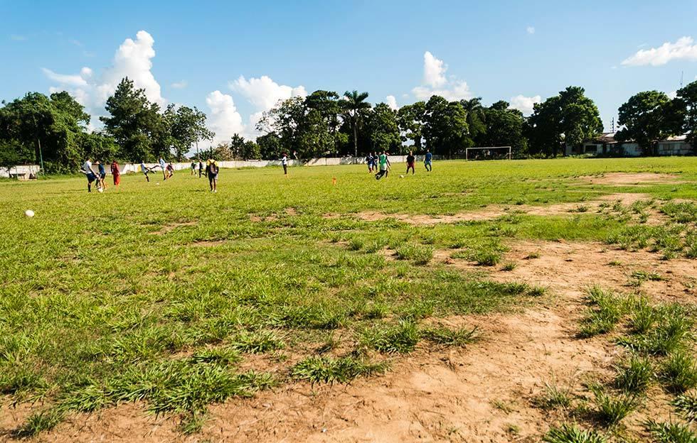 Terreno de fútbol en Pinar del Río