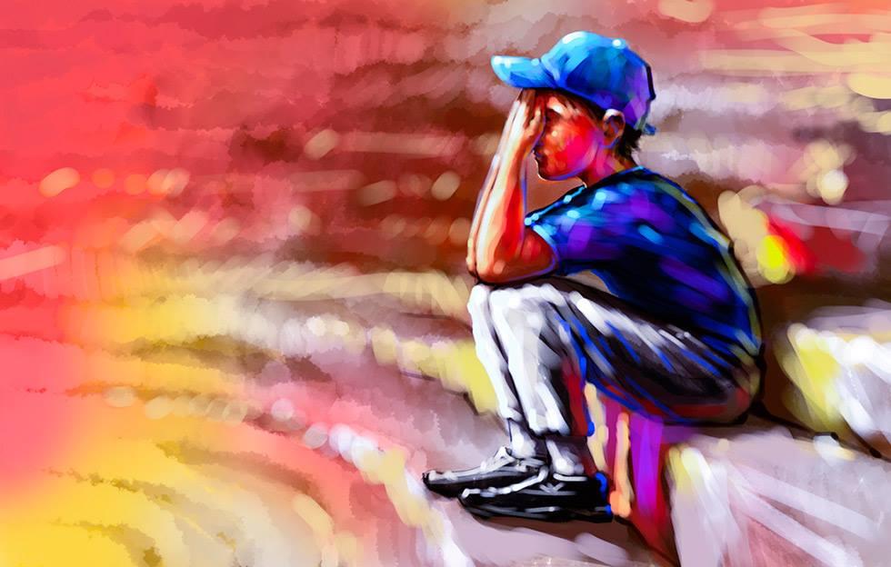 Ilustración de niño pelotero