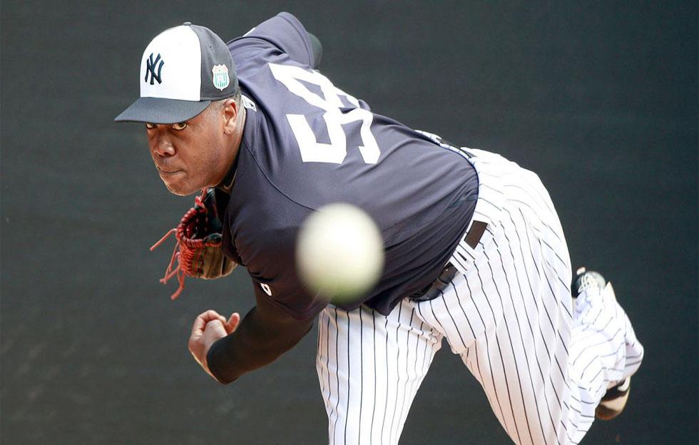 Aroldis Chapman podría regresar el sábado con los Yankees