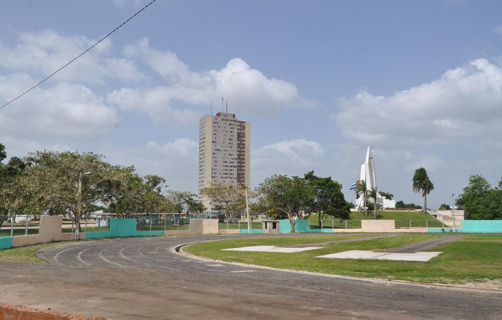 Pista de atletismo en Camagüey.