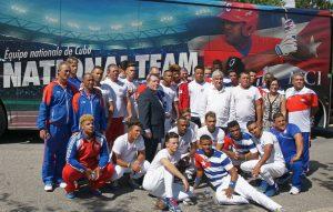 Equipo Cuba Juvenil de la Liga de Béisbol Junior en Quebec.