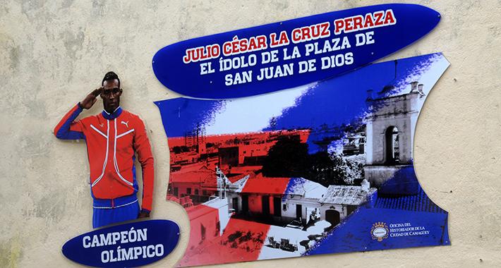 Espacio dedicado al boxeador en una plaza de Camagüey. FOTO: Cortesía del Autor.