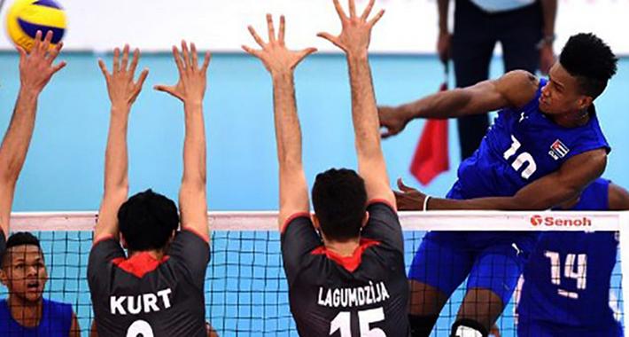 Cuba en el Grupo D del Mundial de Voleibol 2018