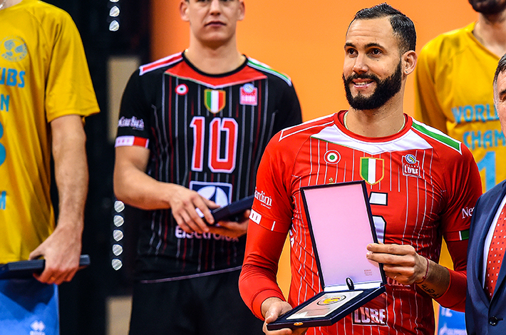 Juantorena es el único jugador que ha repetido el premio de MVP en los Mundiales de Clubes de la FIVB. Ya acumula cuatro. FOTO: FIVB.