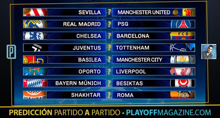 Predicciones para los Octavos de la Champions League