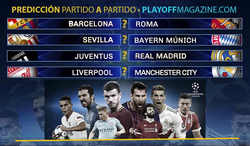 Predicción y análisis de los cuartos de final de la Champions League (partido a partido)