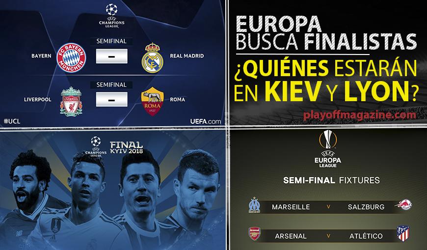 Europa busca finalistas. ¿Descubre quiénes estarán en Kiev y Lyon?