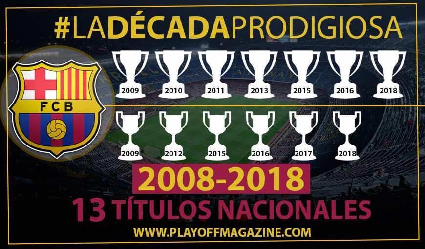 La década prodigiosa azulgrana. El Barça reina en España