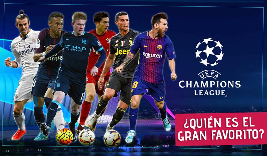 Conoce a los favoritos de la Champions League