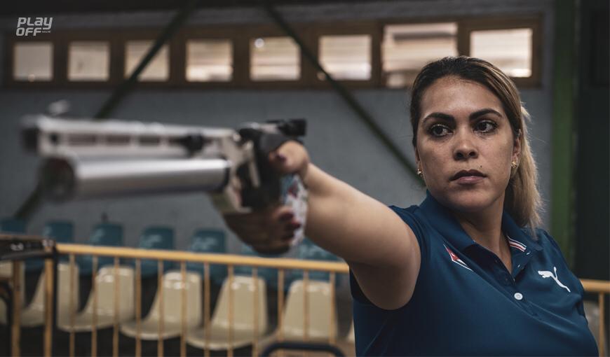 Laina Pérez es una de las grandes representantes del tiro deportivo en Cuba