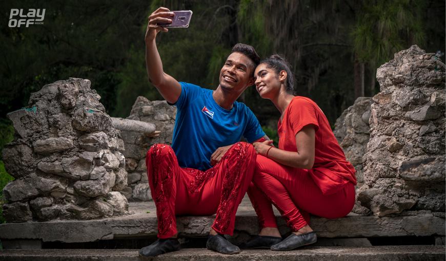 Cheerdancers en Cuba.