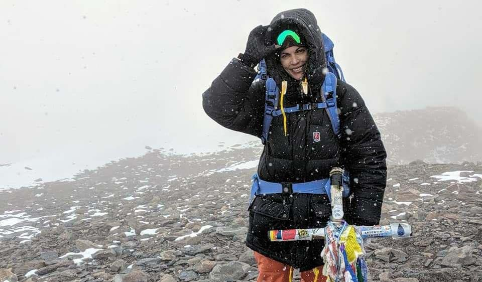 Una mujer cubana en la cima del Aconcagua