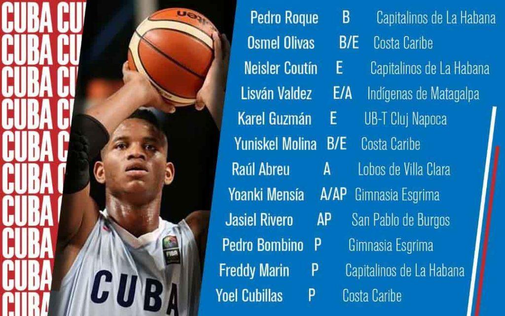 equipo Cuba a ventana FIBA Americup