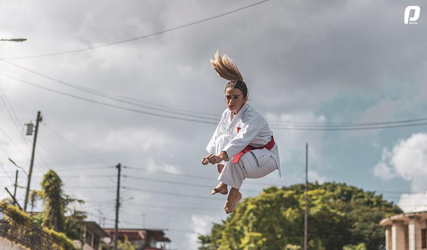Karate-Do karateka de Cuba Claudia Burgos