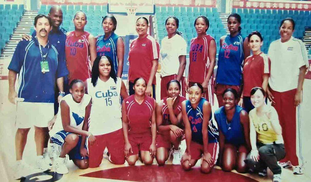 Yudi Abreu con el equipo Cuba