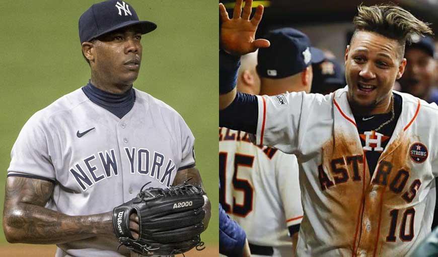 Yuli Gurriel y el picheo cubano, grandes protagonistas del día en MLB