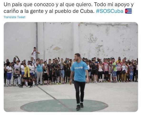 SOS Cuba: Sergio Ramos se suma a los deportistas de la isla